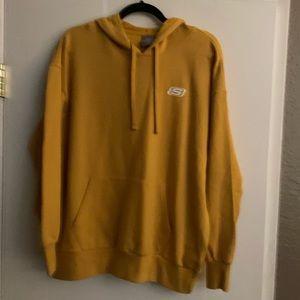 Unisex Mustard Yellow Sketchers Hoodie NWT